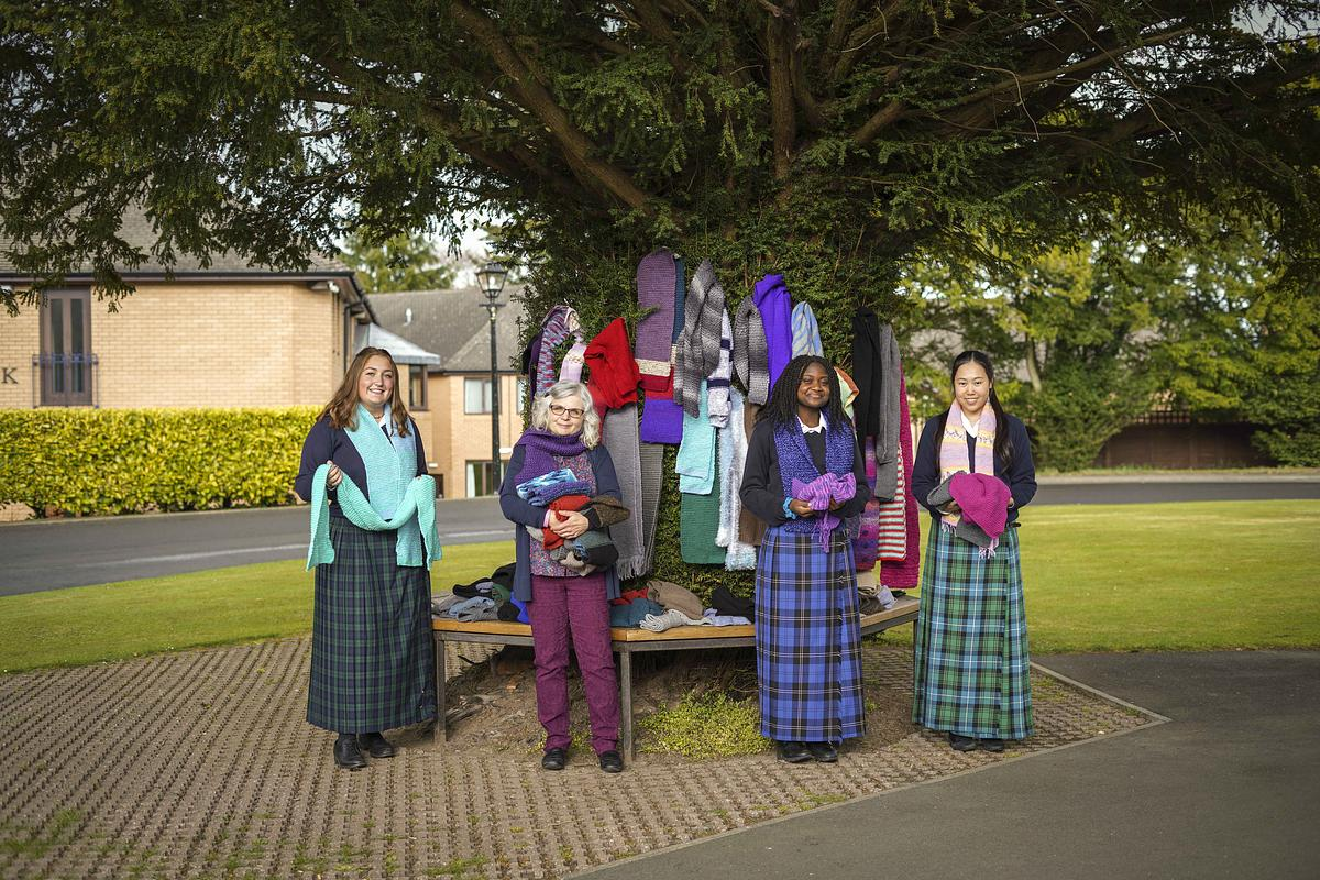 Strathallan community knits 73 scarves for the homeless