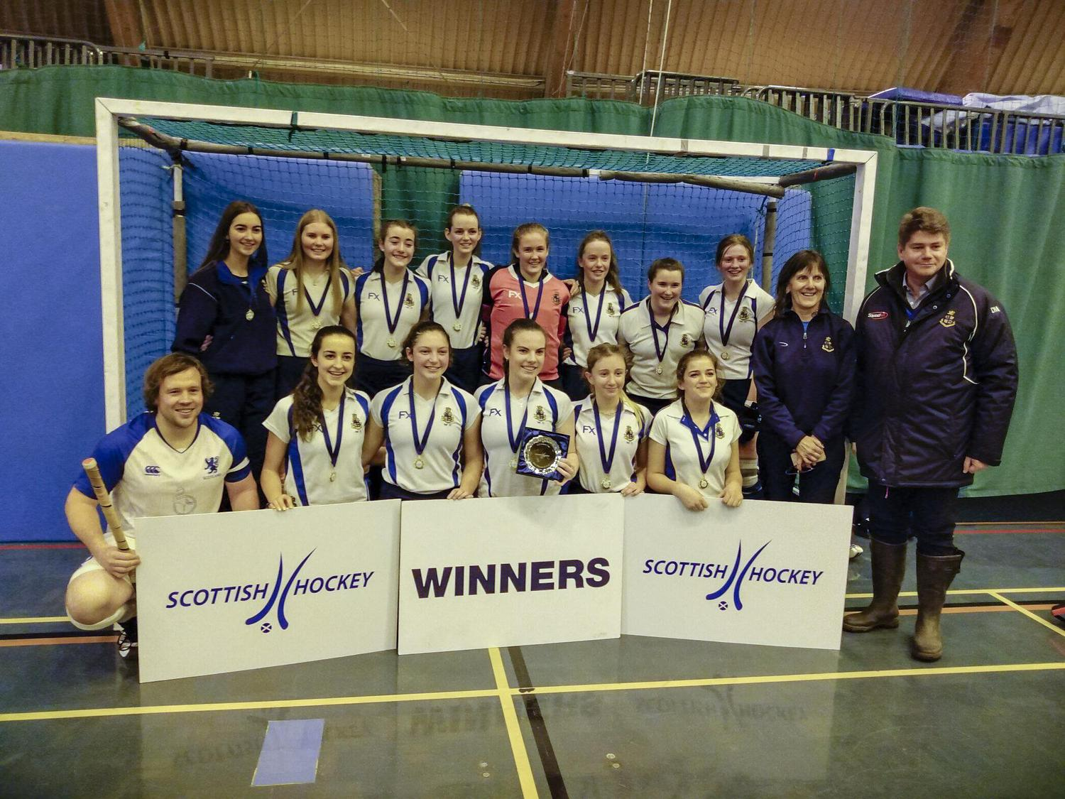 Strathallan U18s girls secure Indoor Cup victory for the second year running
